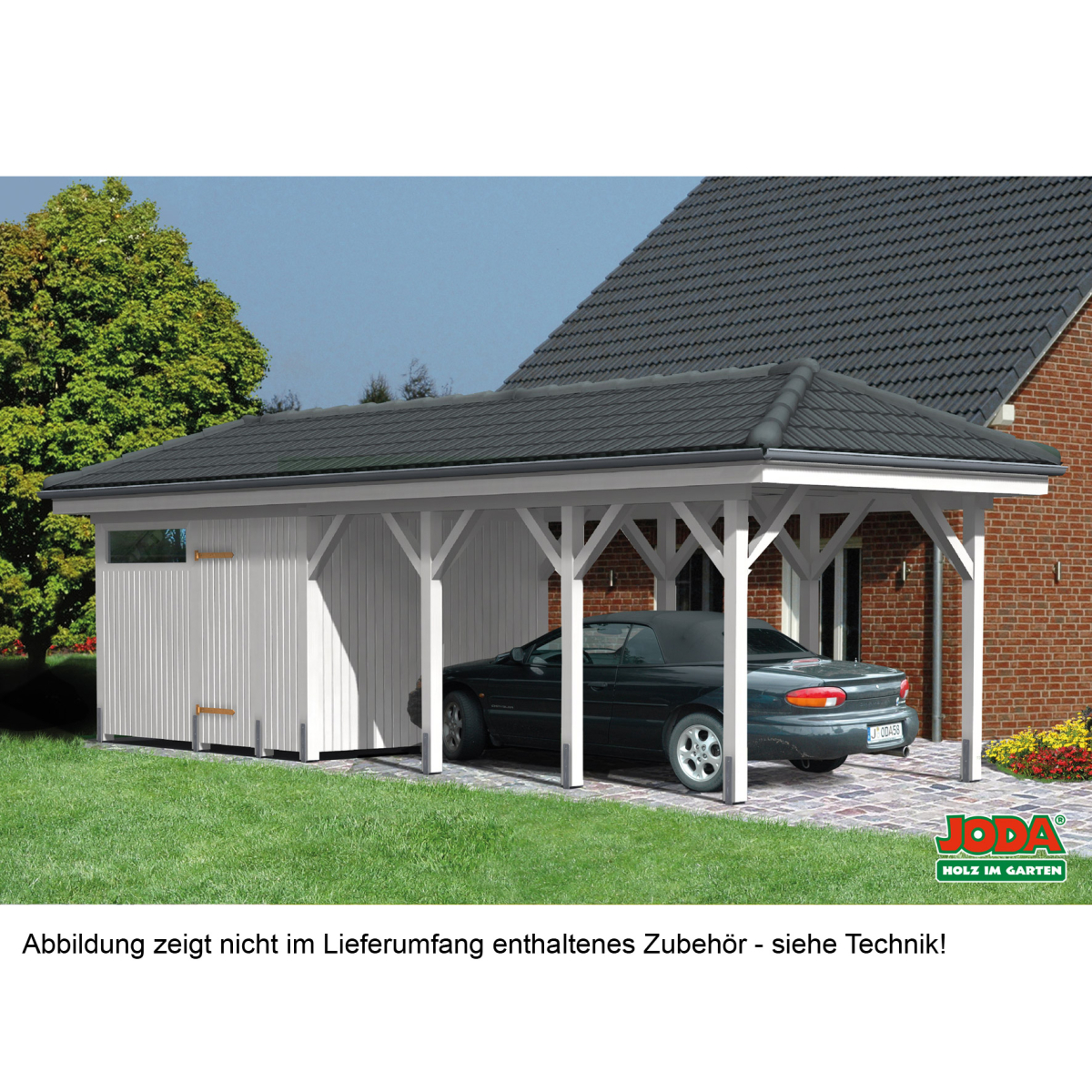 carport schmal mit walmdach diy bausatz. Black Bedroom Furniture Sets. Home Design Ideas