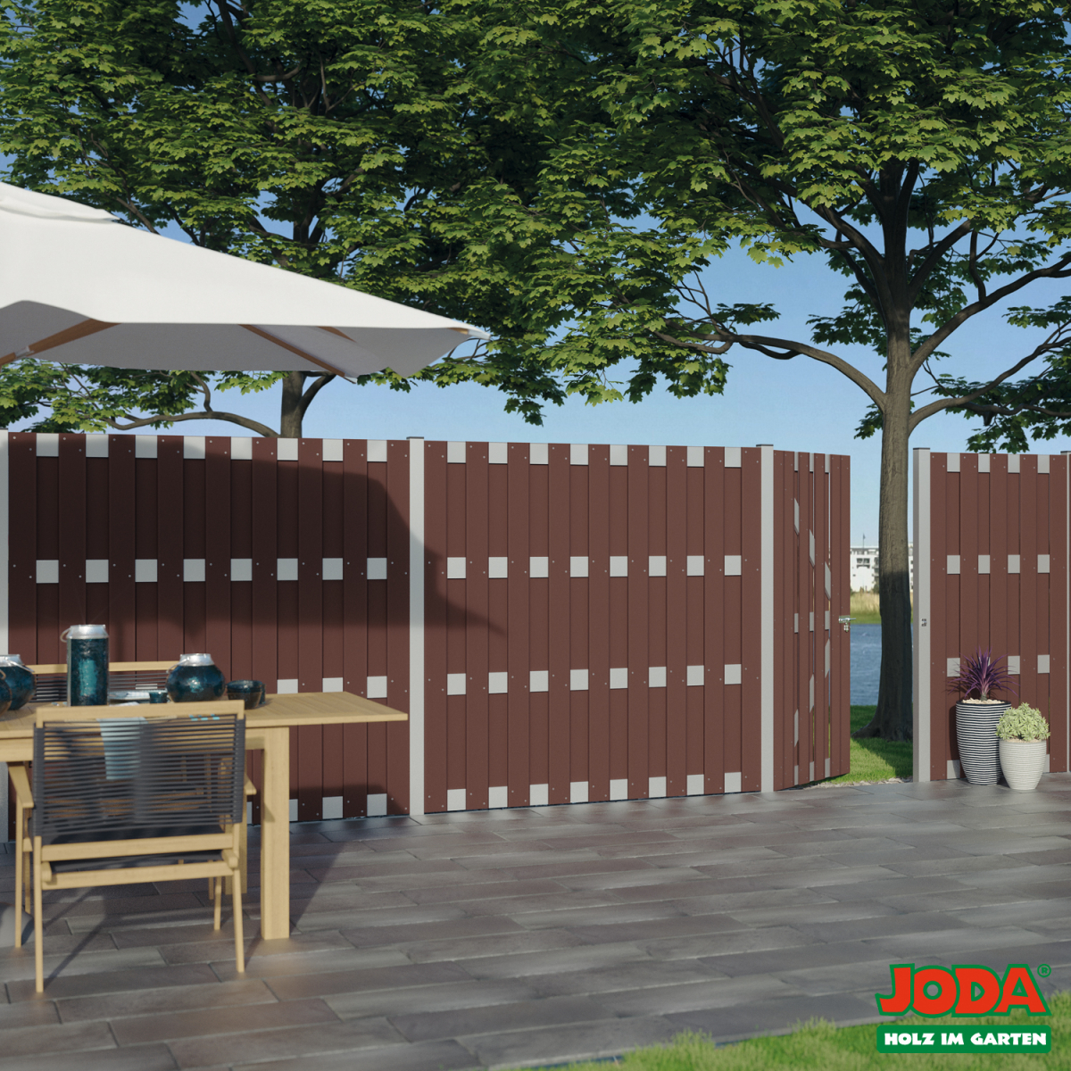 Sichtschutzzaun Holz Pflegeleicht Verschiedene Ideen Zur